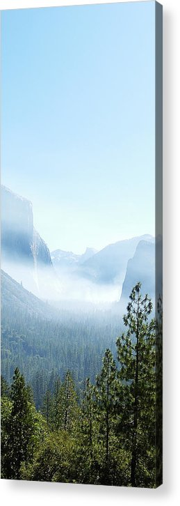 El Capitan Acrylic Print featuring the photograph 2 Of 4 Controlled Burn Of Yosemite Section by Michael Bessler