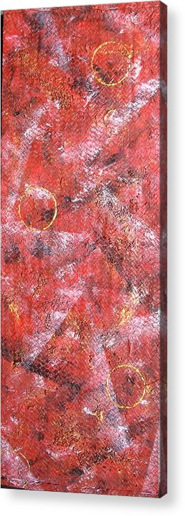 Texture Acrylic Print featuring the painting Lifes Rollercoaster by Sophia Elise
