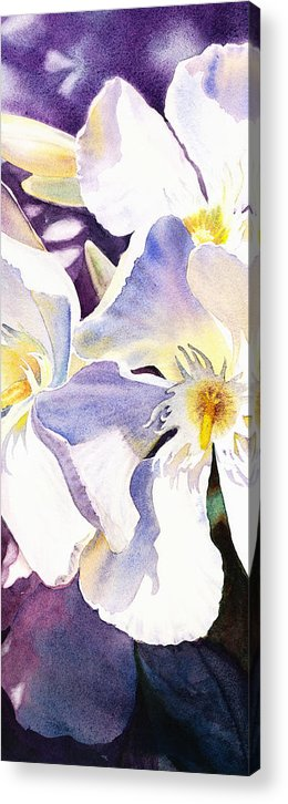 Oleander Acrylic Print featuring the painting Oleander By Irina Sztukowski by Irina Sztukowski