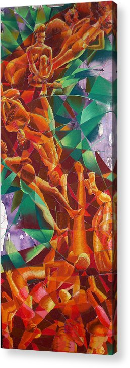 Abstract Acrylic Print featuring the drawing Valley Of Abstraction by Ken Meyer