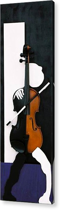 Violin Acrylic Print featuring the sculpture Soul Of Music by Steve Karol