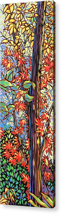 Red Acrylic Print featuring the painting Tree Long by Nadi Spencer