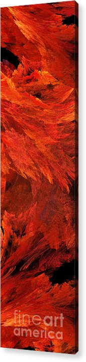 Abstract Acrylic Print featuring the digital art Autumn Fire Pano 2 Vertical by Andee Design