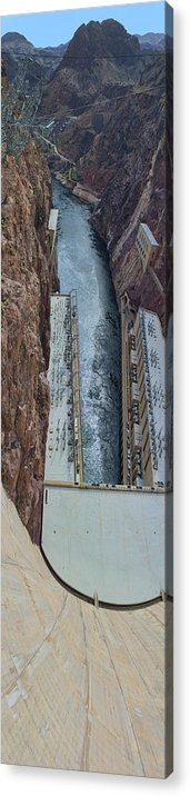 1x4 Acrylic Print featuring the photograph Below Hoover Dam by Gregory Scott