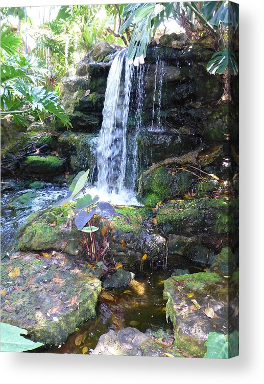 Waterfall Acrylic Print featuring the photograph 054waterfallsg by Carol McKenzie