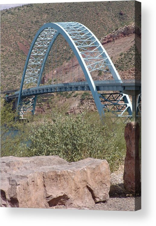Arizona Acrylic Print featuring the photograph Bridge by Jeri lyn Chevalier