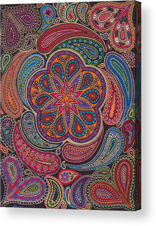 Paisley Acrylic Print featuring the painting Paisley Park by Keri-Ann Schultz