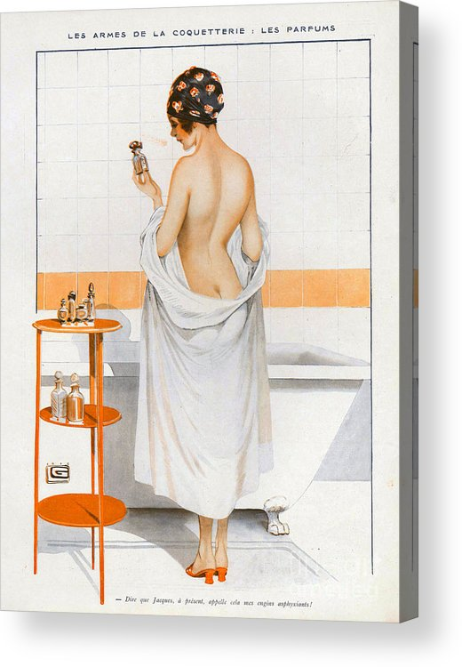 1910�s Acrylic Print featuring the drawing La Vie Parisienne 1916 1910s France Cc by The Advertising Archives