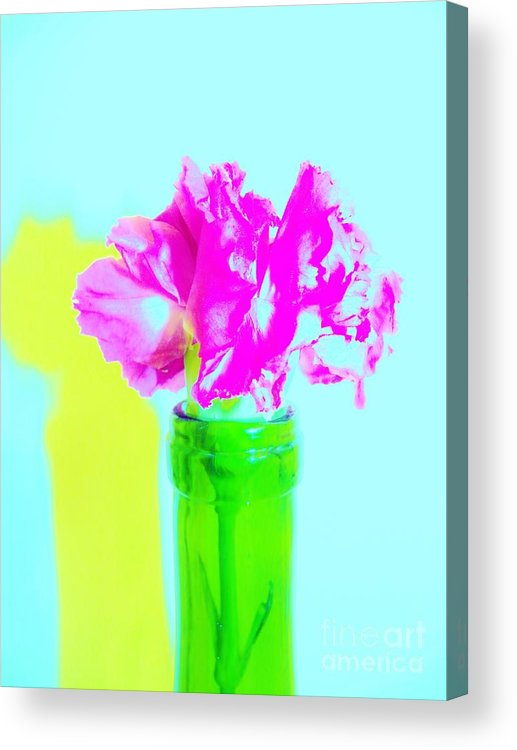 Color Acrylic Print featuring the digital art Pink 2 by Sharon Sennett Herne