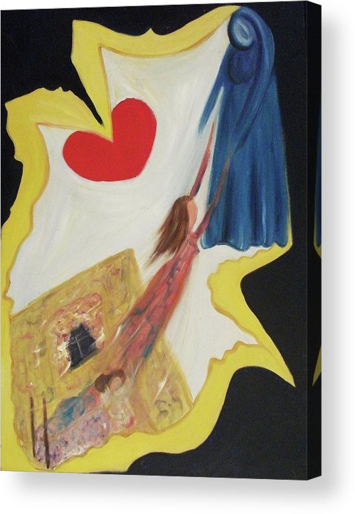 Angel Acrylic Print featuring the painting Spiritual Experience by Suzanne Marie Leclair