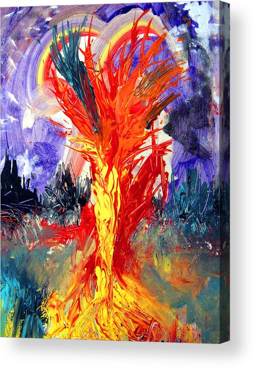 Heart Acrylic Print featuring the painting Different Dna Same Heart Of Survival by Darryl Kravitz
