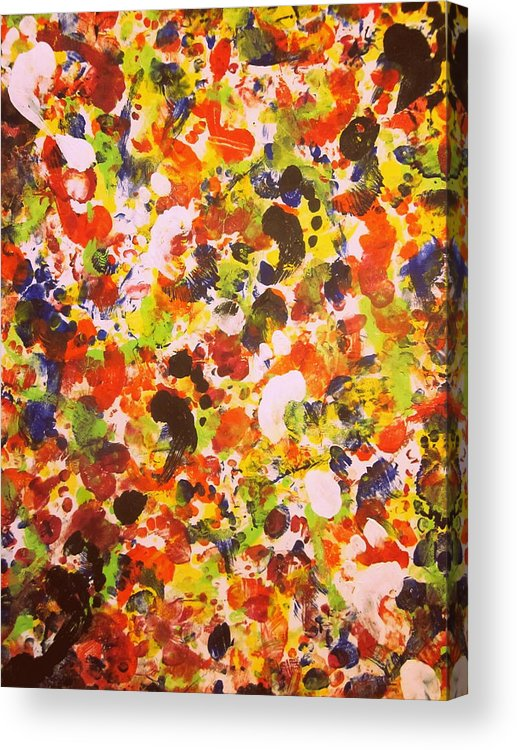 Art Acrylic Print featuring the painting Modern Abstract Painting Original Canvas Art Twister By Zee Clark by Zee Clark