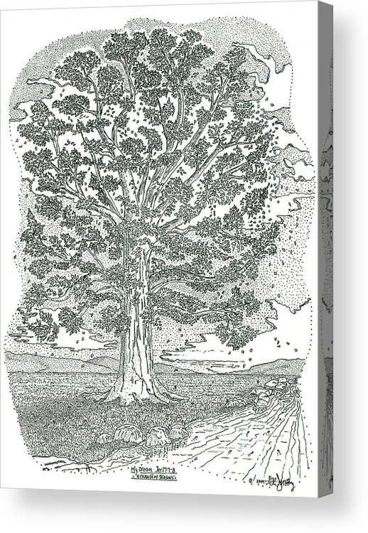 Landscape Acrylic Print featuring the drawing A Change Of Seasons by Glenn McCarthy Art and Photography