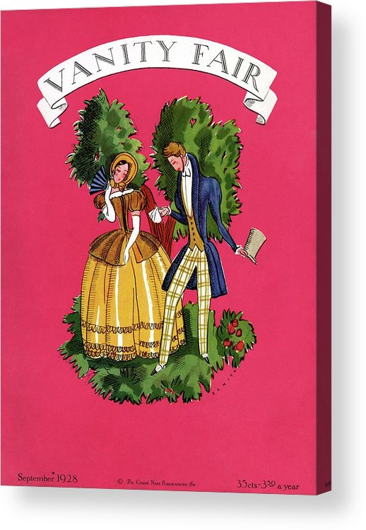 Illustration Acrylic Print featuring the photograph A Couple In Period Costume by Eduardo Garcia Benito