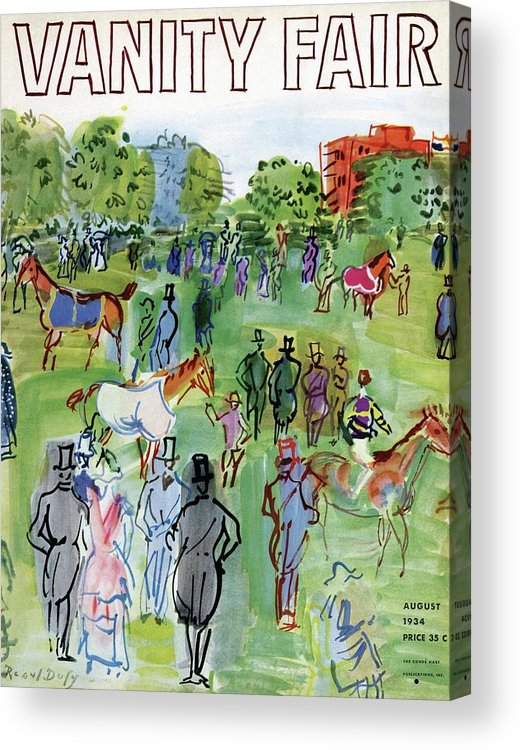 Illustration Acrylic Print featuring the photograph A Equestrian Scene by Raoul Dufy
