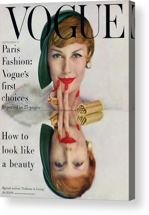 Fashion Acrylic Print featuring the photograph A Vogue Cover Of Mary Jane Russell by John Rawlings