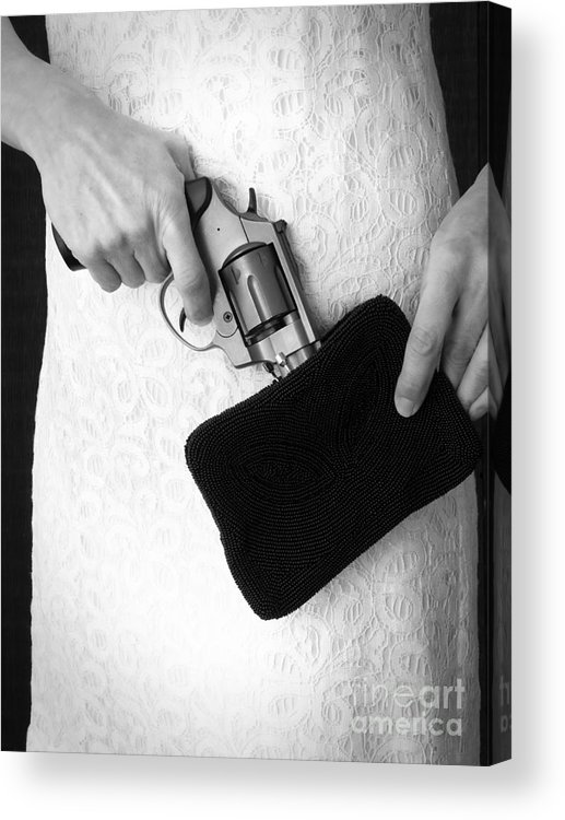 Purse Acrylic Print featuring the photograph A Woman Scorned by Edward Fielding
