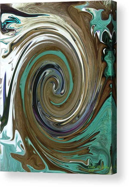 Abstract Acrylic Print featuring the photograph Abstract Abby by Cindy Reilley