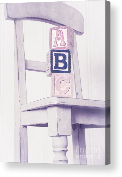 Chair Acrylic Print featuring the photograph Alphabet Blocks Chair by Edward Fielding