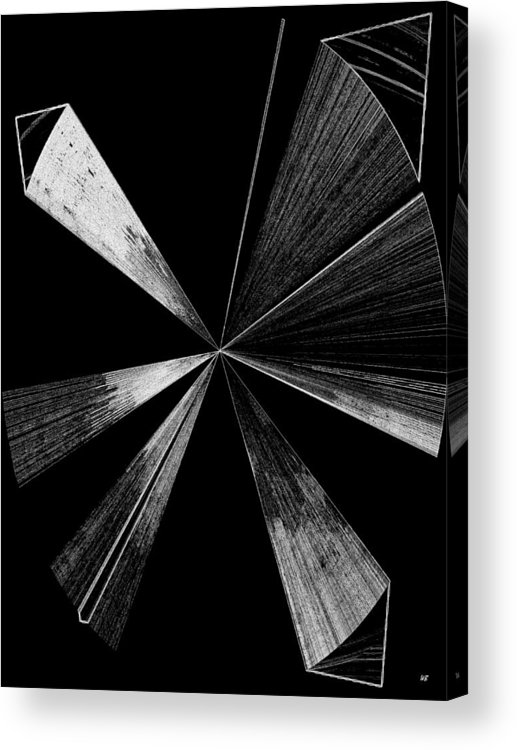Antenna Acrylic Print featuring the digital art Antenna- Black And White by Will Borden