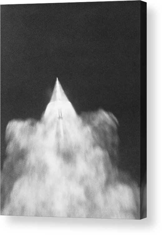 Apollo 11 Acrylic Print featuring the photograph Apollo 11 Separates From Its First Stage Rocket by Nasa/science Photo Library