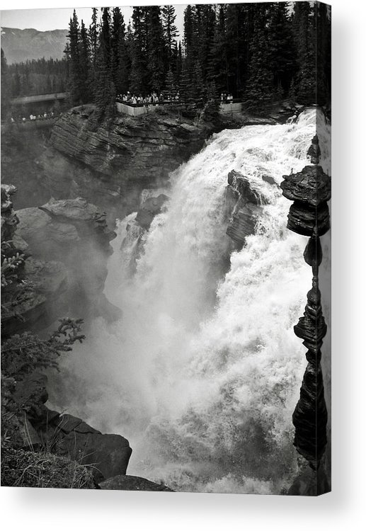 Bw Acrylic Print featuring the photograph Athabasca Falls by RicardMN Photography