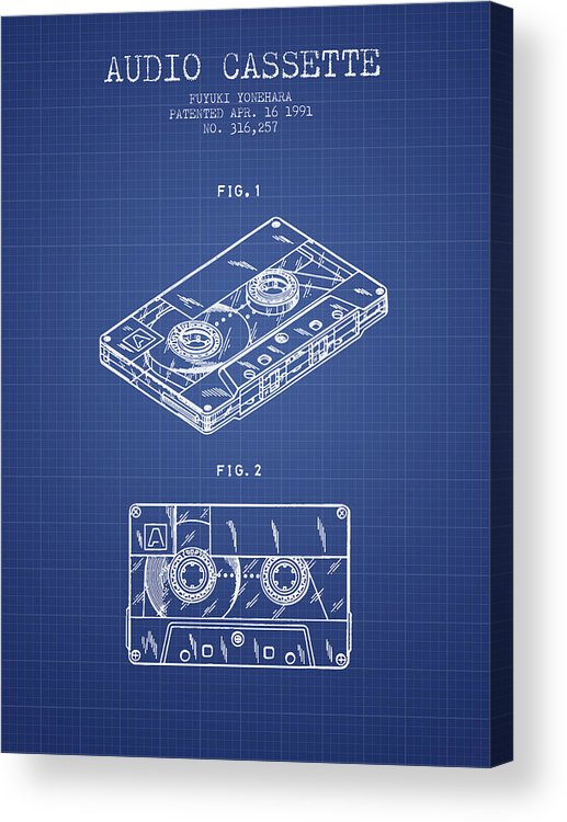 Audio cassette patent from 1991 blueprint acrylic print by aged pixel audio casssette acrylic print featuring the digital art audio cassette patent from 1991 blueprint by malvernweather Image collections