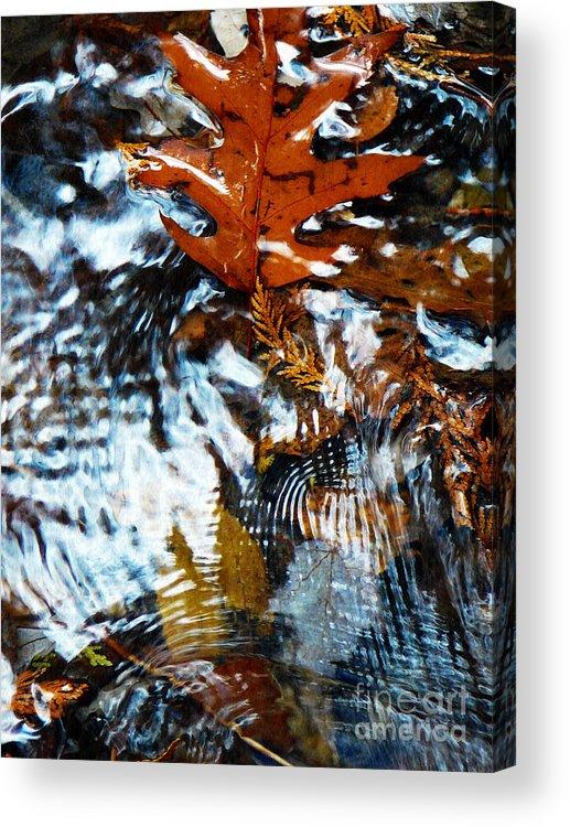 Oak Acrylic Print featuring the photograph Autumn Snow by Chris Sotiriadis