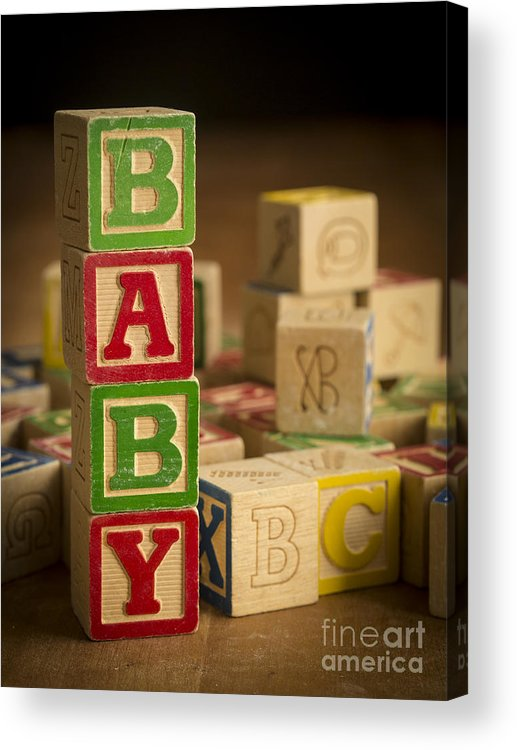 Blocks Acrylic Print featuring the photograph Baby Blocks by Edward Fielding