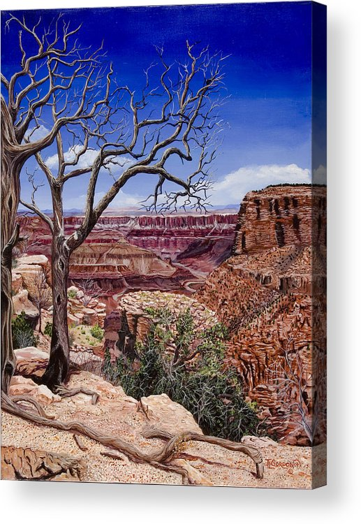 Landscape Acrylic Print featuring the painting Bare Limbs by Timithy L Gordon