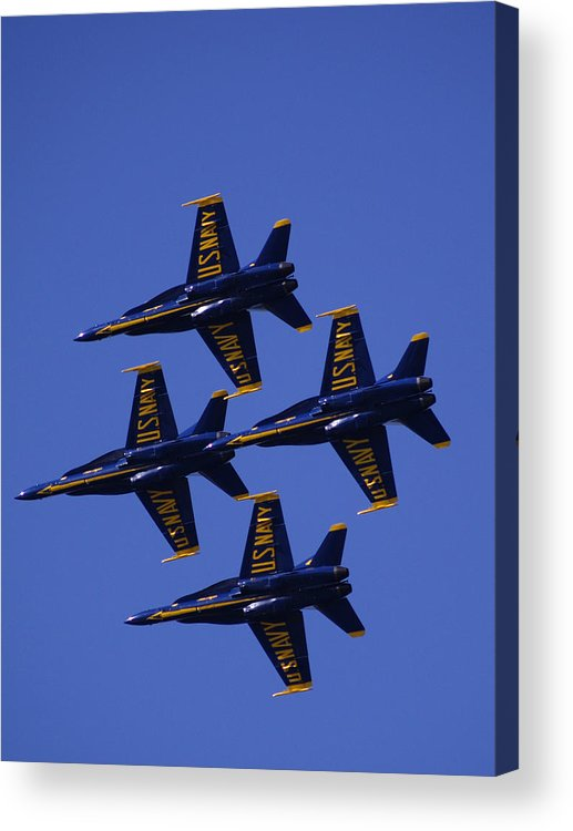 Airshows Acrylic Print featuring the photograph Blue Angels by Bill Gallagher
