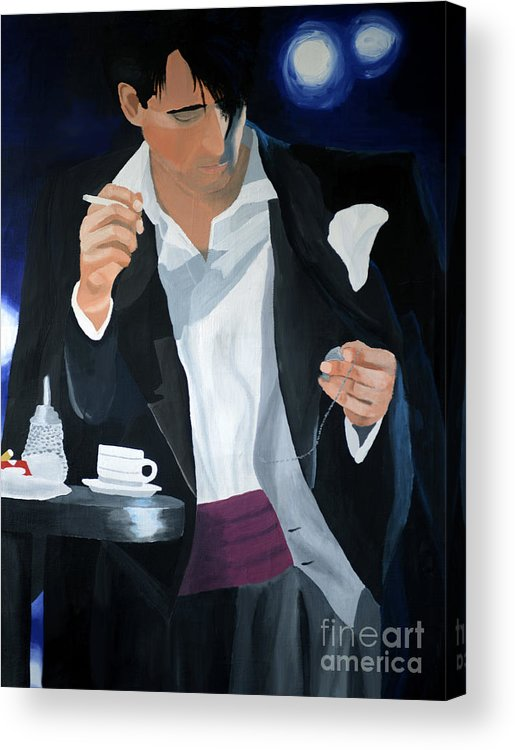 Art Acrylic Print featuring the painting Blue Man by Eva-Maria Becker