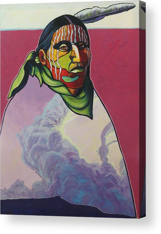 Native American Indian Acrylic Print featuring the painting Body And Soul by Joe Triano
