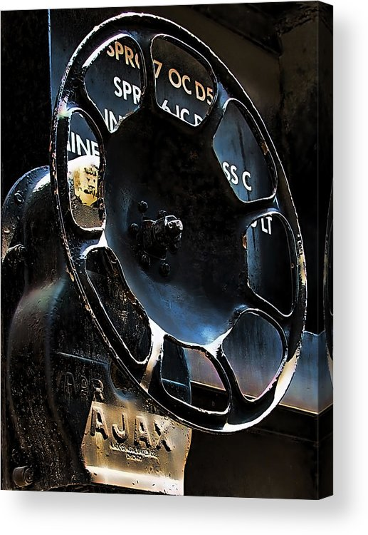 Art166 Acrylic Print featuring the photograph Braking by Wendy J St Christopher