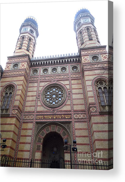 Budapest Acrylic Print featuring the photograph Budapest Synagogue by Deborah Smolinske