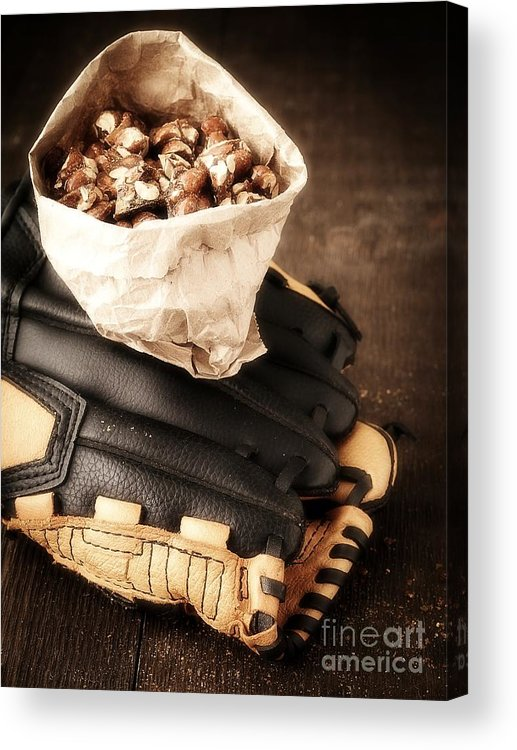 Baseball Acrylic Print featuring the photograph Buy Me Some Peanuts And Cracker Jack by Edward Fielding
