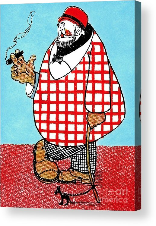 Artist Acrylic Print featuring the painting Cartoon 05 by Svetlana Sewell