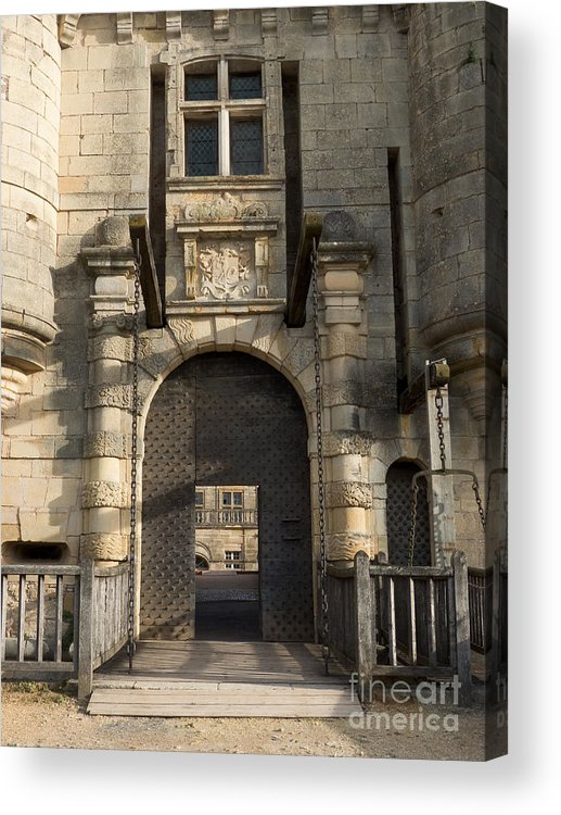 Door Acrylic Print featuring the photograph Castle Drawbridge Entry by Paul Topp & Castle Drawbridge Entry Acrylic Print by Paul Topp