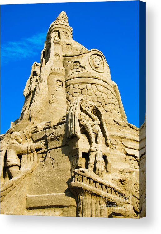 Sandcastle Acrylic Print featuring the photograph Castle In The Sand by Colleen Kammerer