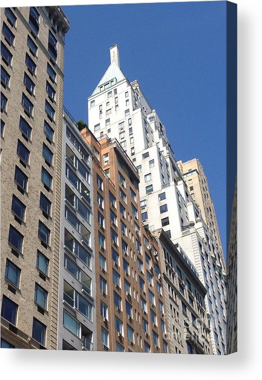 Buildings Acrylic Print featuring the photograph Central Park West by Christy Gendalia