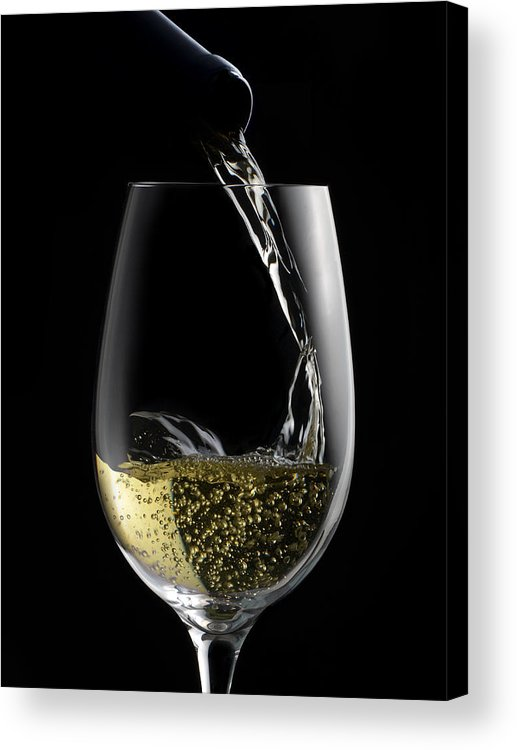 White Acrylic Print featuring the photograph Chilled White by Dennis James