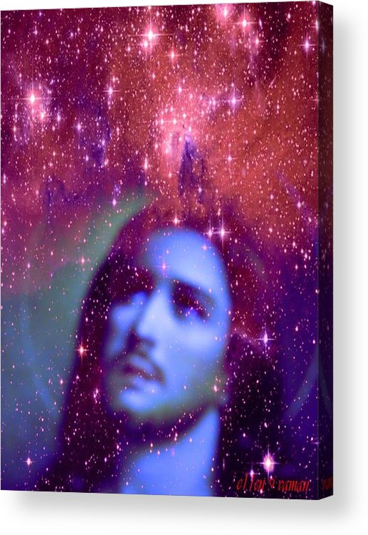 Fantasy Abstract Rapture Acrylic Print featuring the digital art Christ Consciousness by Ellen Vaman