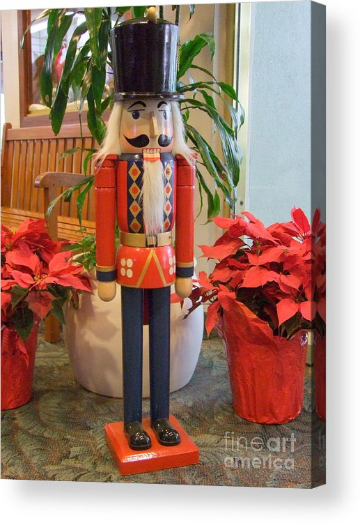 German Acrylic Print featuring the photograph Christmas Sentinel No 1 by Mary Deal