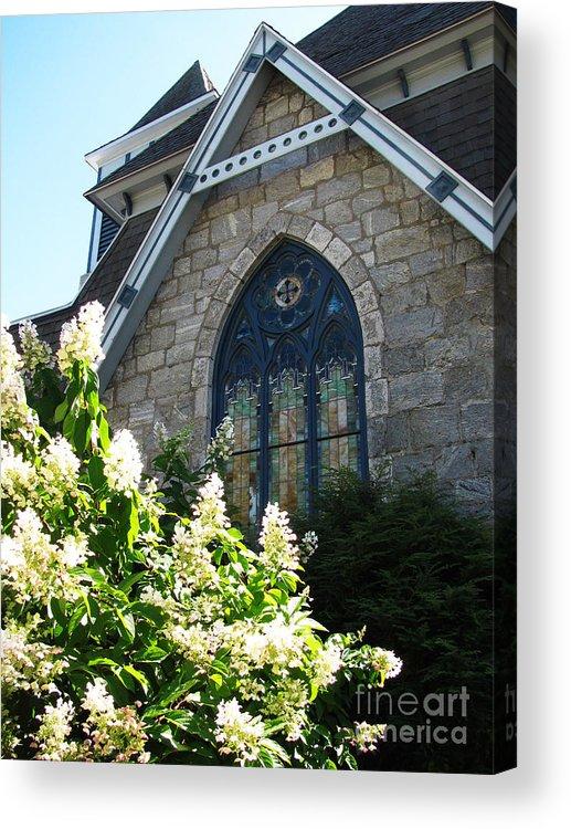 Church Acrylic Print featuring the photograph Church Window by Nancie Johnson