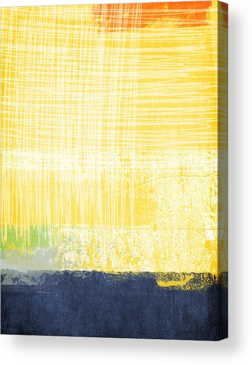 Abstract Painting Acrylic Print featuring the painting Circadian by Linda Woods