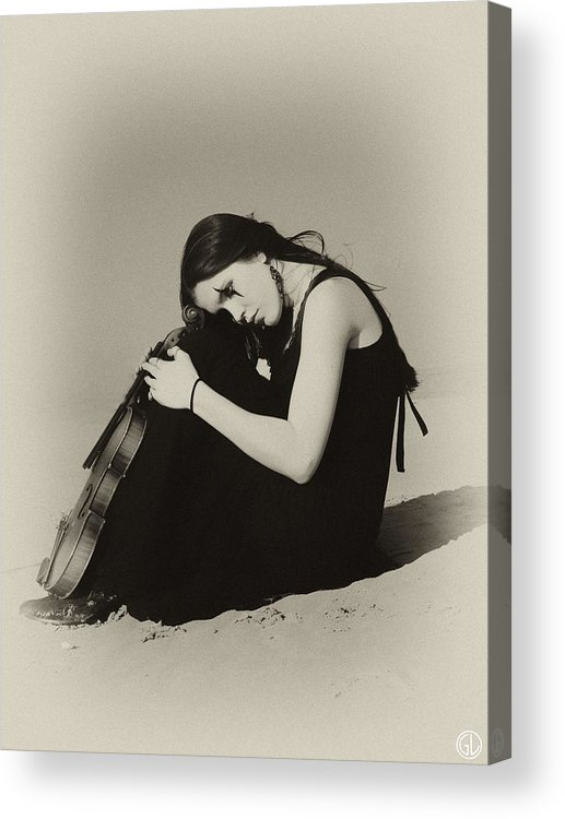 Woman Acrylic Print featuring the digital art Comfort In The Desert by Gun Legler