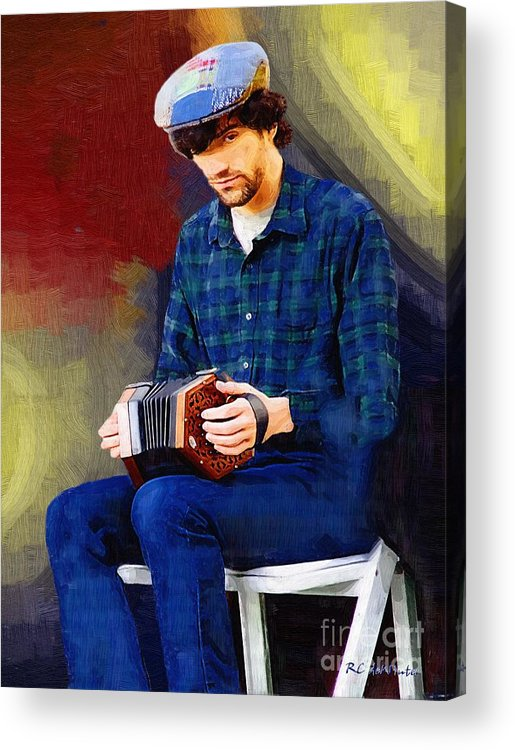 Man Acrylic Print featuring the painting Connection by RC DeWinter