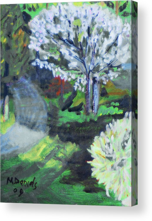 Tree Acrylic Print featuring the painting Crab Apple Tree by Michael Daniels