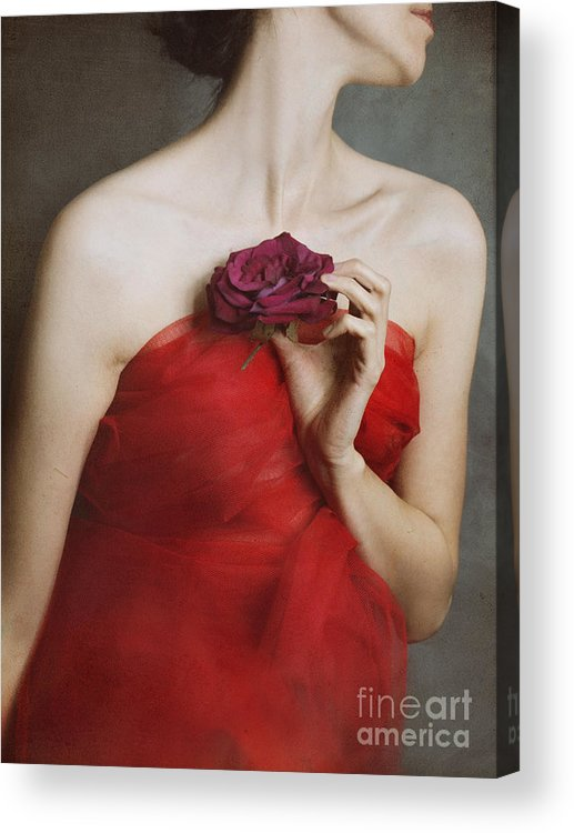 Red Acrylic Print featuring the photograph Deep Red by Malgorzata Maj