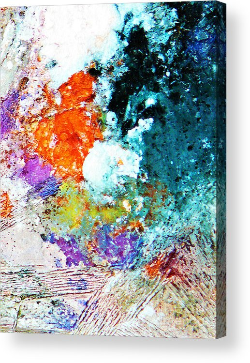Ice-painting Acrylic Print featuring the photograph Djinn Blows ... Dove Floating In The Wind by Chris Sotiriadis